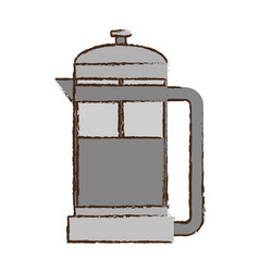 Coffee pot handle glass vector