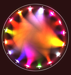 Colorful theatrical spotlights on a circular ramp vector