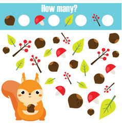 counting educational children game mathematics vector image