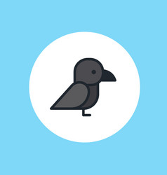 crow icon sign symbol vector image