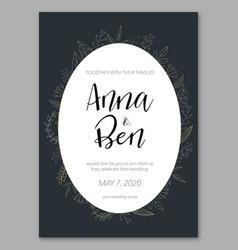 dark wedding invitation vector image