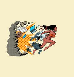 Emancipation feminism liberation african women vector
