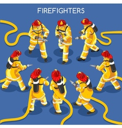Firefighters 01 People Isometric vector