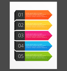 five steps horizontal colorful banners vector image