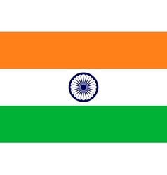 Flag of India in correct proportions and colors vector image