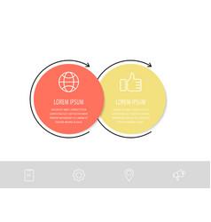 Flat template circle infographics business vector