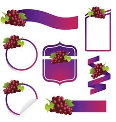 Grape Label Set vector image