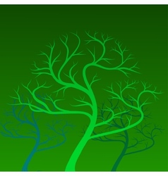 Green trees on background vector