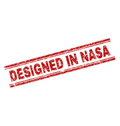Grunge textured designed in nasa stamp seal vector