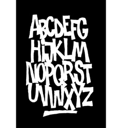 Hand lettering font alphabet vector image
