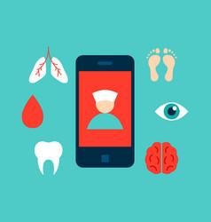 health online concept vector image