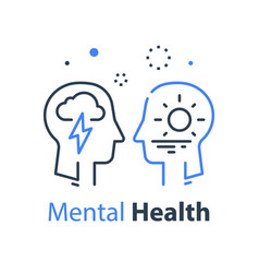 Human head profile cognitive psychology vector