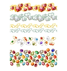 Jewelry gems vector