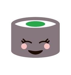 kawaii sushi piece icon vector image