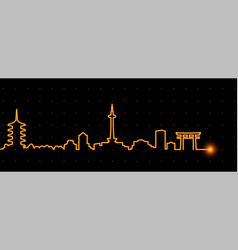 Kyoto light streak skyline vector
