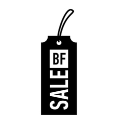Label black friday icon simple style vector image