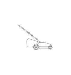 Lawn mower flat icon vector