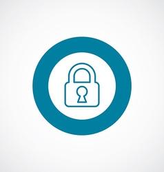 Lock icon bold blue circle border vector