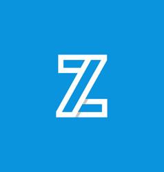 logo letter z white vector image