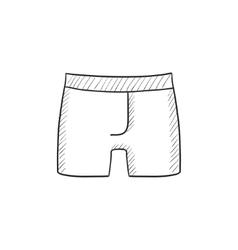 Male underpants sketch icon vector image