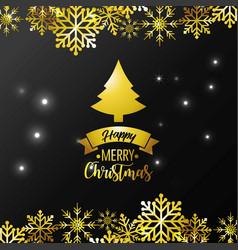 Merry christmas card decoration design vector