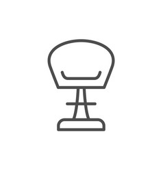 modern chair line icon vector image