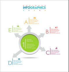 modern infographic colorful design template 6 vector image
