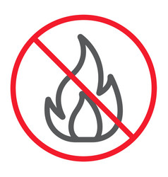 no fire line icon prohibition and forbidden vector image