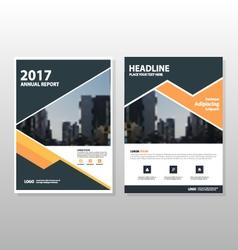 Orange triangle annual report Leaflet templates vector image
