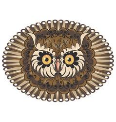 Ornamental Owl Head3 vector image