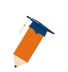 Pencil school supply icon vector