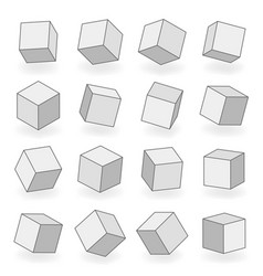polygon mesh 3d modeling square blocks volume vector image