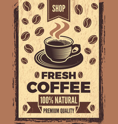 Poster in retro style for coffee house vector