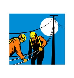 Power Lineman Telephone Repairman Electrician vector image