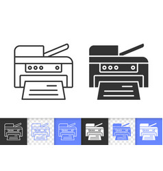 printer simple black line icon vector image