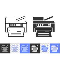 Printer simple black line icon vector