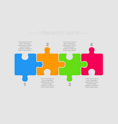 Puzzle four pieces part for business presentation vector