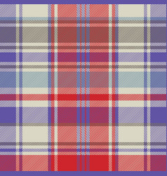 Red plaid tartan fabric texture seamless pattern vector