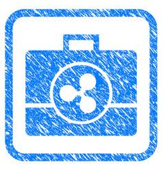 ripple business case framed stamp vector image