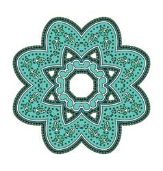 Round ethnic pattern mandala in shades vector