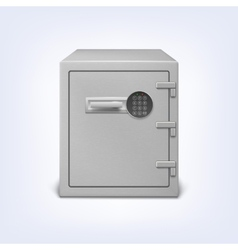 Safe with electronic lock vector