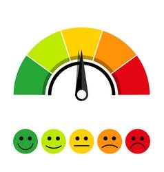 Scale of customer satisfaction vector