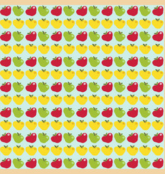 seamless abstract pattern with apples on light vector image