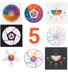 set universal elements for templates infographics vector image