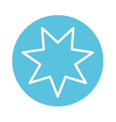 Star seven pointed block style icon vector