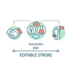 Succession plan concept icon vector