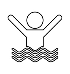 swiming person isolated icon vector image