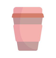 take away disposable cup cartoon icon style design vector image