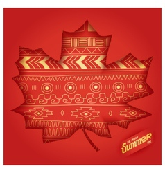 The indian summer time vector image