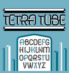 trendy vintage capital english alphabet letters vector image